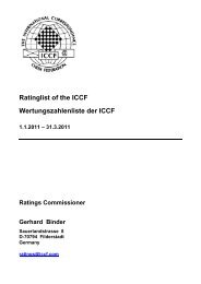 ICCF Rating Report 2011/1