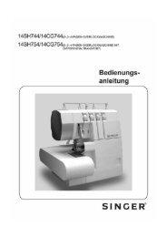 Anleitungsbuch Overlock 744 - 7