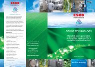 Ozone systems brochure - Esco International