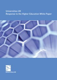 Universities UK Response to the Higher Education White Paper
