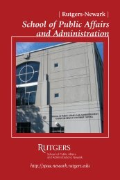 School of Public Affairs and Administration - Rutgers, The State ...