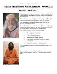 silent residential kriya retreat - australia - Kriya Yoga Institute