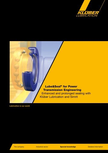 Lube&Seal® for Power Transmission Engineering Enhanced ... - Simrit
