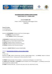 salsomaggiore thermal world forum territorialita' e termalismo - siass
