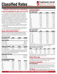 Classified Rates - The Poughkeepsie Journal