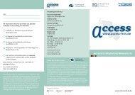 Flyer als pdf - access