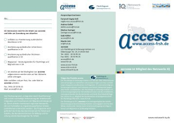 Flyer als pdf - access