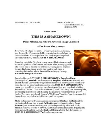 to download this press release as a PDF - Kayos Productions