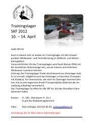 Trainingslager SKF 2012 10. – 14. April - Solothurner Kajakfahrer
