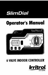 Irritrol Hardie SlimDial 6 Station Indoor Controller ... - Irrigation Direct