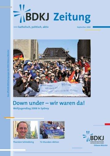 Down under – wir waren da! - BDKJ-Münster