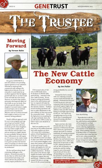 The New Cattle Economy - Beef