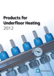 Products for Underfloor Heating 2012 - LK Systems AB