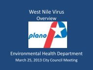 West Nile Virus - City of Plano