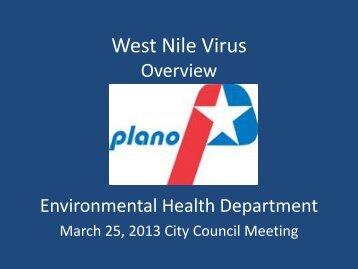 West Nile Virus - City of Plano