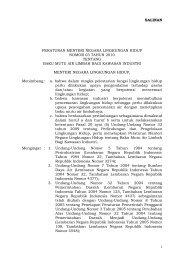 Peraturan MENLH Nomor 03 Tahun 2010 - SKPD Pemerintah Kota ...