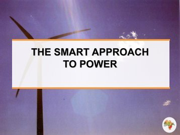 RENEWABLE ENERGY: THE SART APPROACH TO POWER - Vula