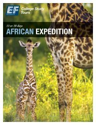 AFRICAN EXPEDITION - EF College Study Tours