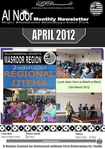 Local Jalsa Yaum-e-Masih-e-Maud 23rd March 2012 - Majlis ...
