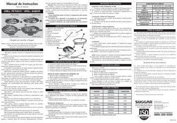 Manual de Instruções - Suggar