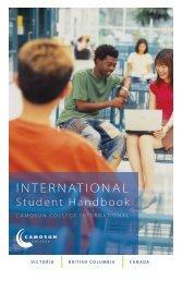 International Student Handbook - Camosun College