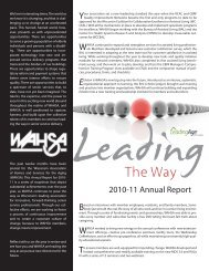 2010-11 Annual Report - LeadingAge Wisconsin