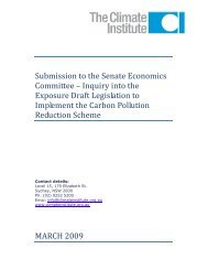 Submission to the Senate Economics Committee on the CPRS
