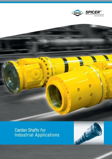 Cardan Shafts for Industrial Applications