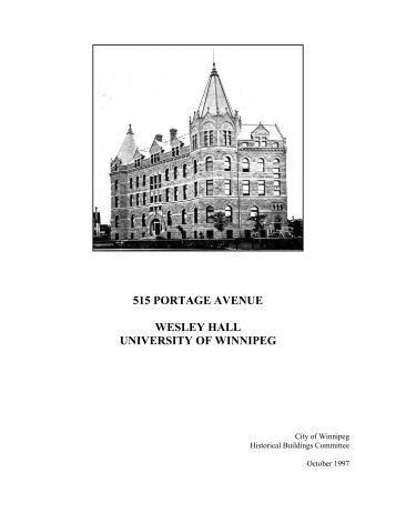 515 PORTAGE AVENUE - long - City of Winnipeg