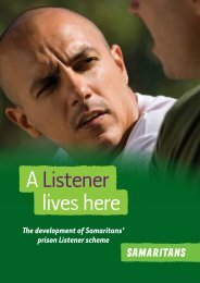 The development of Samaritans' prison Listener scheme