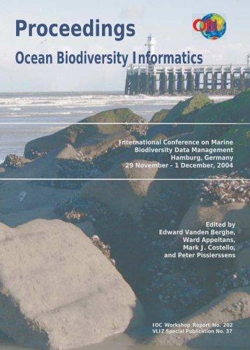 Ocean Biodiversity Informatics - Japan Oceanographic Data Center