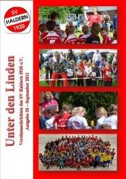 """Vereinsnachrichten """"Unter den Linden"""" 2012 Seite 1 - SV Haldern"""