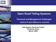 Open Road Tolling Systems. - ITS South Africa