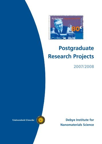 PhD student booklet 2007-2008 - Debye Institute