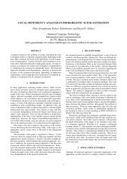 Local Dependency Analysis in Probabilistic Scene Estimation.