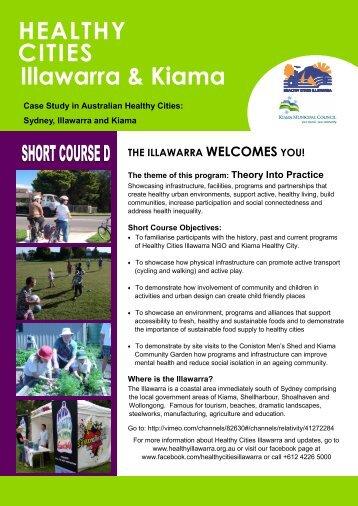 HEALTHY CITIES Illawarra & Kiama