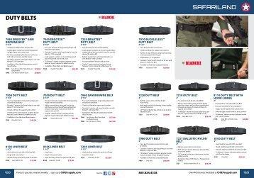 safariland duty Belts - Chief Supply