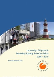 Disability Equality Scheme 2006-10 - Plymouth University
