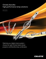 Christie Xenolite lamp brochure - Christie Digital Systems