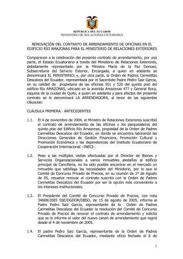 Contrato de arrendamiento anexo edificio principal tribunal - Contrato de arrendamiento de oficina ...