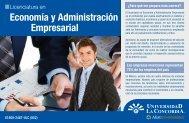 Economía y Administración Empresarial - Universidad La Concordia