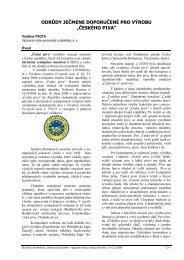 odrůdy ječmene doporučené pro výrobu ... - Konference, Agro