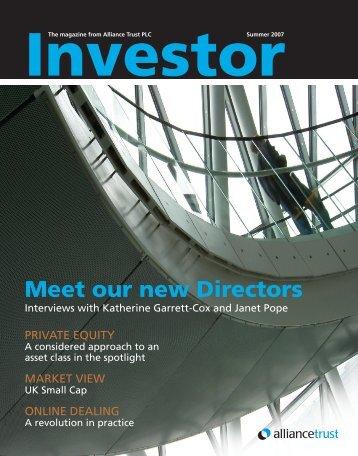 Investor Magazine Summer 2007 - Alliance Trust
