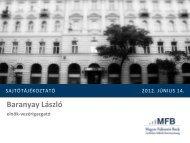 Sajtótájékoztató 2012. június 14. - Magyar Fejlesztési Bank Zrt.