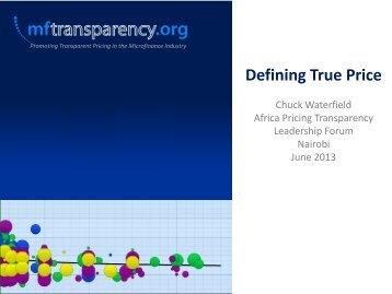 Defining True Price - MFTransparency.org