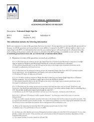 RFP #3142-10 ADDENDUM #1 & ACKNOWLEDGMENT OF ...