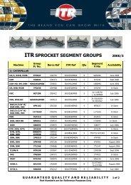 ITR SPROCKET SEGMENT GROUPS 2006/5 - VR Trading