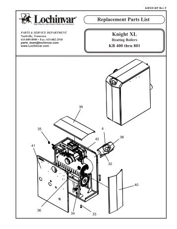 Replacement Parts List - PexSupply.com