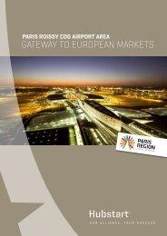 Paris Roissy CDG Airport Area_Gateway to European markets - by Hubstart Paris Region_sept 2014