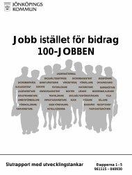 Jobb istället för bidrag 100-JOBBEN - Jönköpings kommun